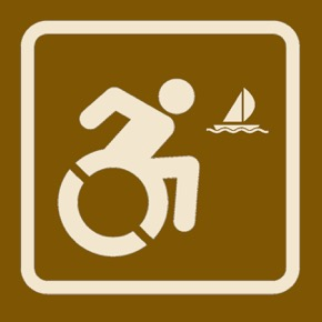 Accessible Boating Sign