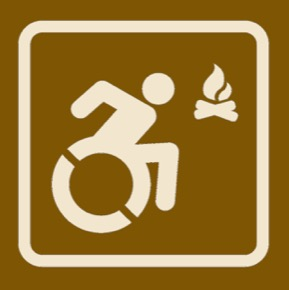 Accessible Camping Sign