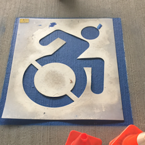 The accessible icon project parking stencil maxwellsz