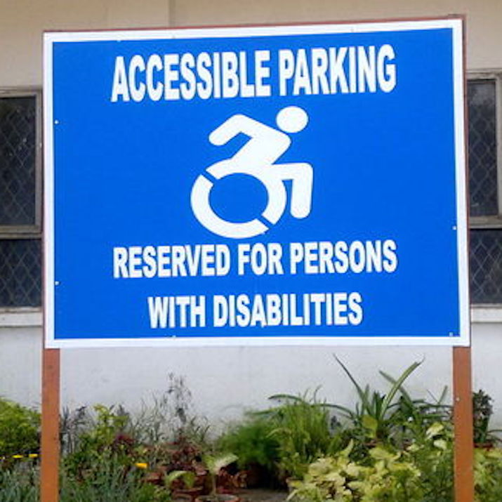 A sign at a hospital in Delhi, India, was sent to us early in the project by a doctor and self-advocate named Satendra Singh. Disability advocacy means very different things in different locales; we're glad the icon is one way that like-minded activists can find one another.